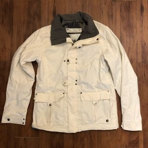 Burton women's white snowboard/ski jacket medium